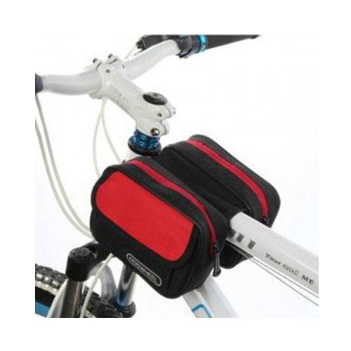 Roswheel Cykel Dubbel Framsides Cykelväska 1.5L – Röd