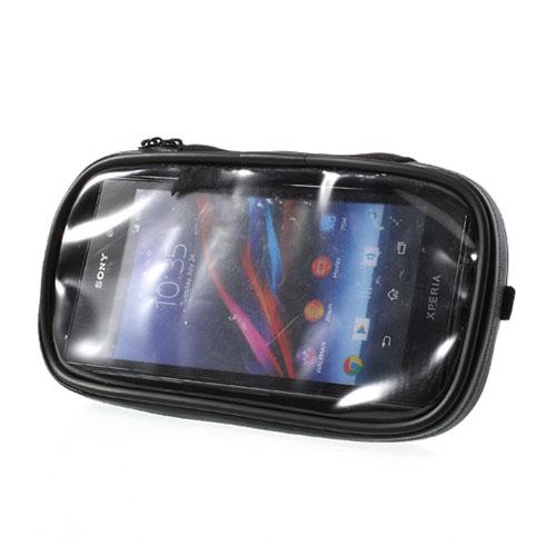 Vattentät Cykelhållare till Smartphones 16.5 x 9cm – Svart