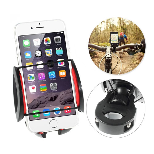Inställningsbar Cykelhållare till Smartphone 50 – 90mm – Svart / Röd