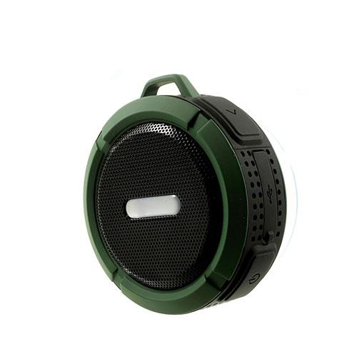 C6 Vattentät Bluetooth Högtalare med Cyckel montering – Mörkgrön