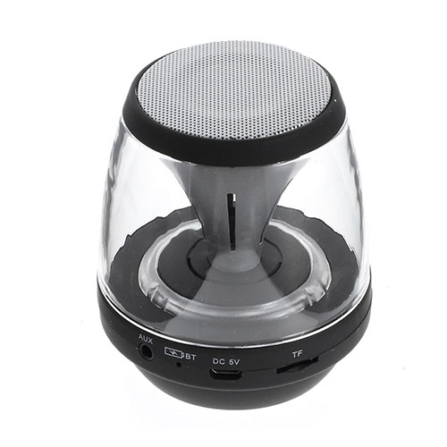 Mini Bluetooth Högtalare med Färgglada LEDs Stödjer AUX-Input och TF/MicroSD Card – Svart