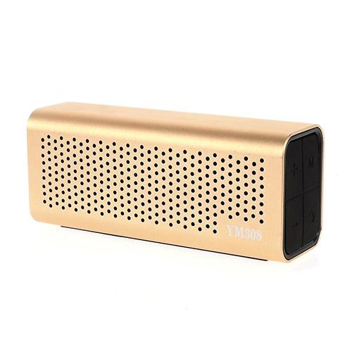 YM-308 Bluetooth Högtalare med Mikrofon – Guld