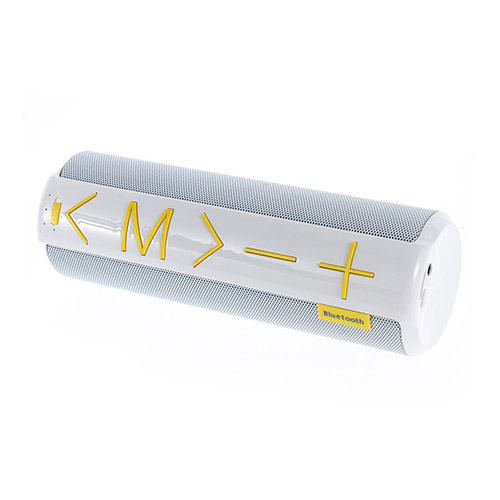 YM-C06 Bluetooth Högtalare med Mikrofon och Aux-input – Vit