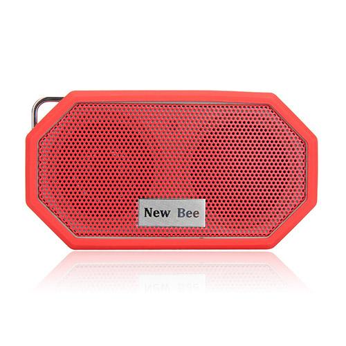 NEW BEE Trådlös Bluetooth Högtalare med Mic – Röd