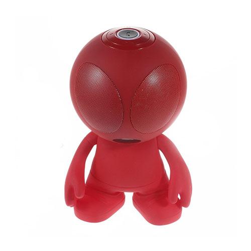 Alien Bluetooth Minihögtalare med Mikrofon – Röd