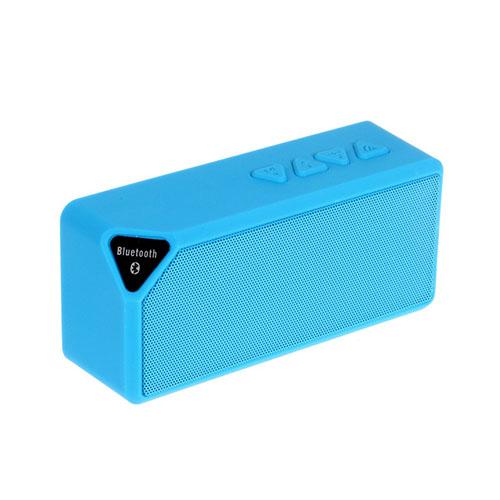 X3S Bluetooth Högtalare med Bluetooth och AUX – Blå