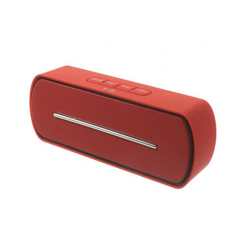 Röd Bluetooth Mini-Högtalare med Mikrofon
