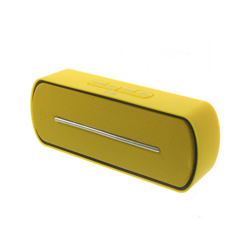 Gul Bluetooth Mini-Högtalare med Mikrofon