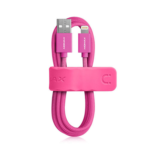 MOMAX Elite MFI USB Kabel til Apple Smartphones – Het Rosa