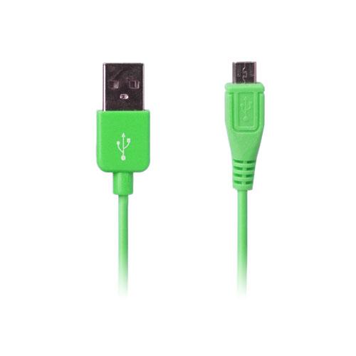 Micro USB Data och Laddningskabel (Grön) 1m till Smartphones