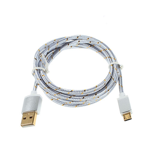 Universel 1.5m Micro USB Kabel til Android Smartphones – Silver