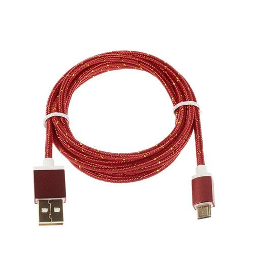Universel 1.5m Micro USB Kabel til Android Smartphones – Röd