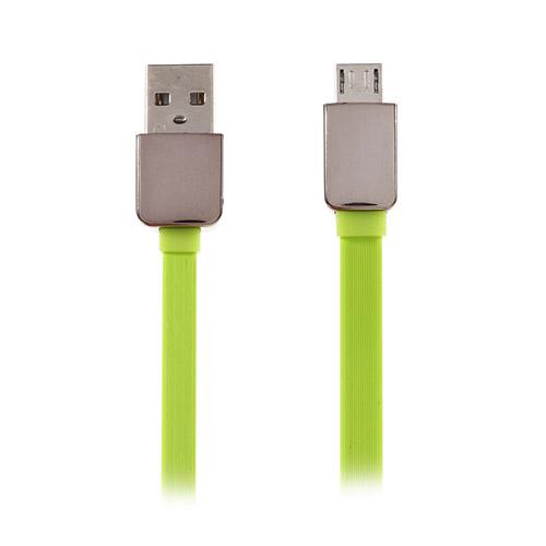 Micro USB Kabel till Android Smartphones Längd: 1,2m (Shiny Ends) – Grön