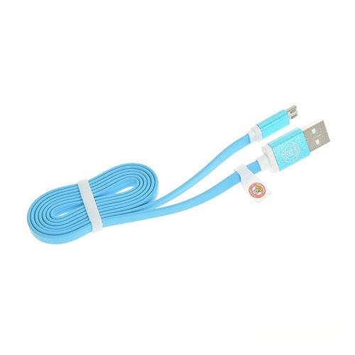 1m Micro USB platt kabel för Surfplattor och Smartphones – Blå
