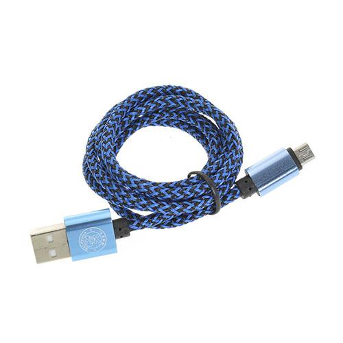 1m Hamprep 2A Micro USB-kabel – Blå