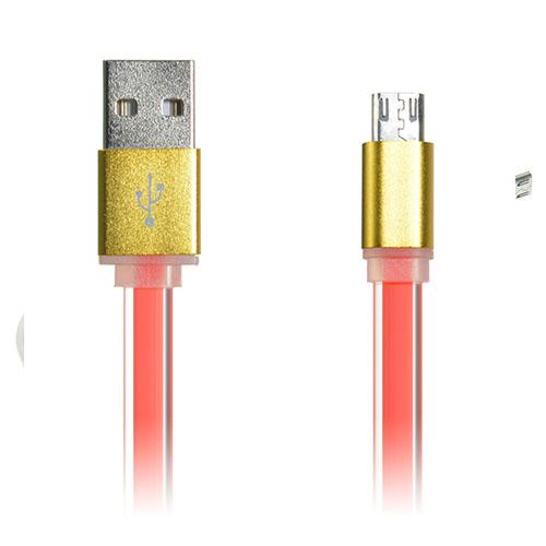 1m 2A Platt Micro USB-kabel – Orange