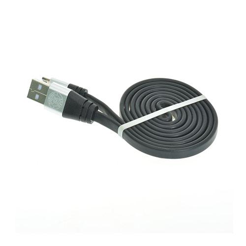 1m Platt Nudel Micro USB-kabel – Svart