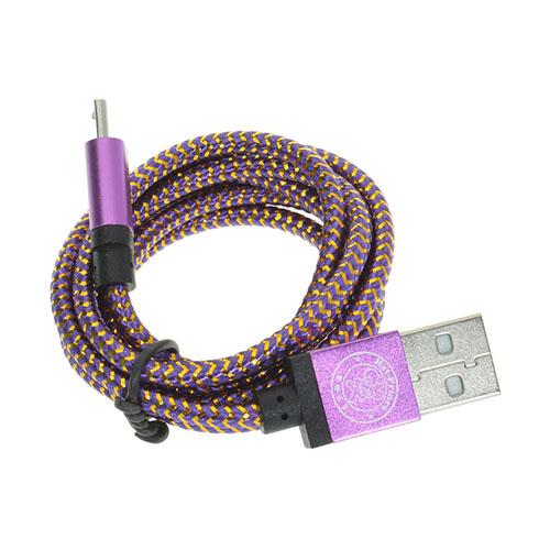 1m Vävd Micro USB-Kabel – Lila