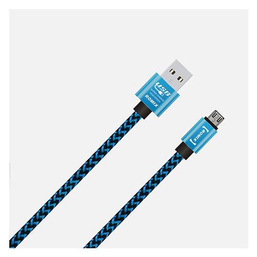 Romix 1.2 Meter Micro USB-kabel – Blå