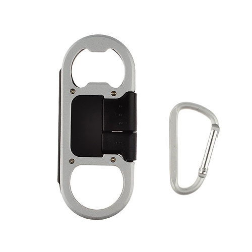 Micro USB-kabel + Kapsylöppnare för Samsung HTC LG Huawei etc. – Svart