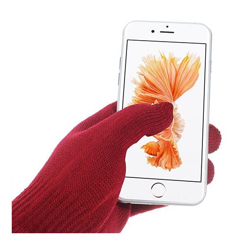 IGLOVE Sammanvävda Touch Screen Handskar – Röd
