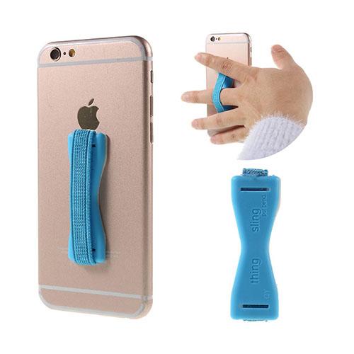 Finger Sele med Klister för Smartphones och Surfplattor – Ljusblå