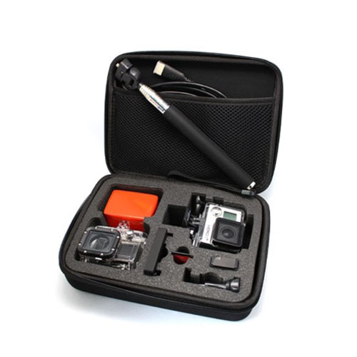 Reseförvaring / Skyddande Väska till GoPro 3+ 3 och Tillbehör 21 x 16 x 6.5cm – Svart