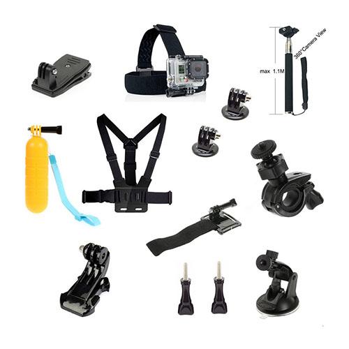 13-i-1 Sport Tillbehörs Kit för GoPro och Action Kameror