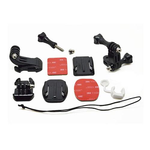 10 i 1 Väska av Monterings Kit för GoPro Hero 3+ / 3 / 2 / 1