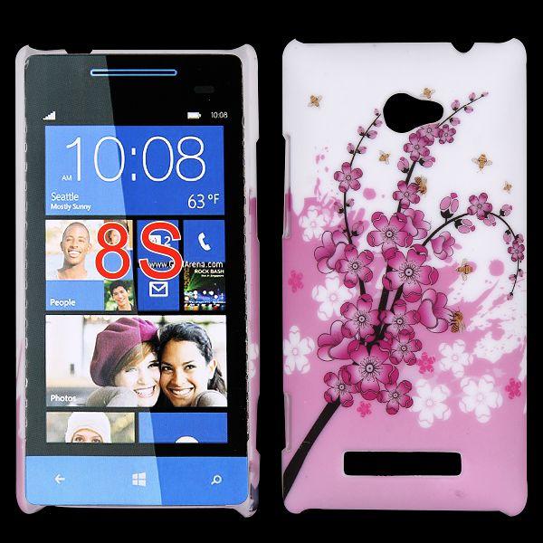 Valentine (Rosa Blommande Gren) HTC Windows SmartPhone 8S Skal