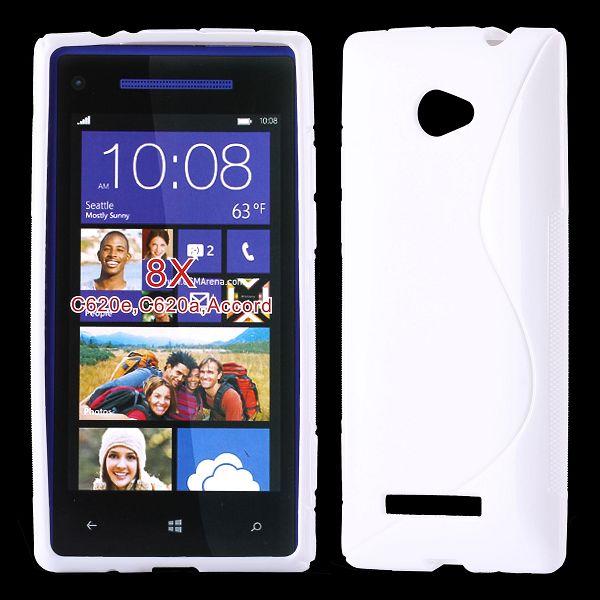S-Line Solid (Vit) HTC 8X Skal