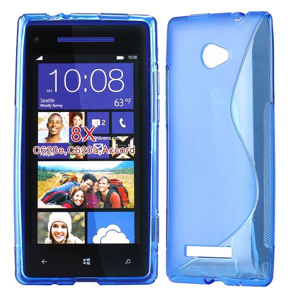 S-Line Transparent (Blå) HTC 8X Skal