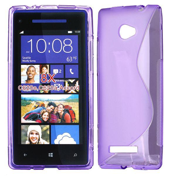 S-Line Transparent (Lila) HTC 8X Skal