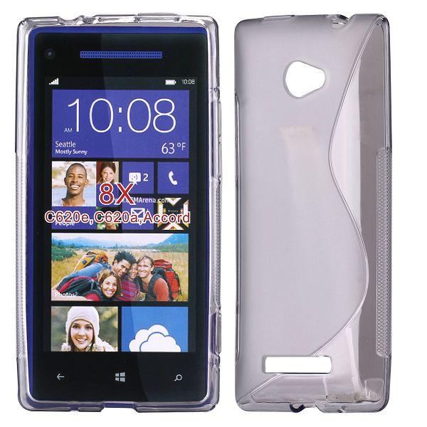 S-Line Transparent (Grå) HTC 8X Skal