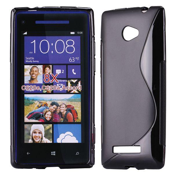 S-Line Solid (Svart) HTC 8X Skal
