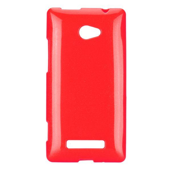 Soft Glitter (Röd) HTC 8X Skal