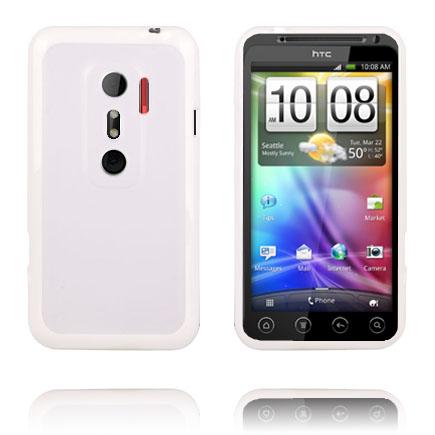 Transparent Back (Vit) HTC Evo 3D Skal