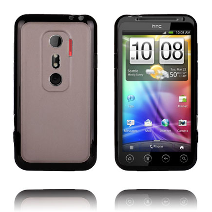 Transparent Back (Svart) HTC Evo 3D Skal