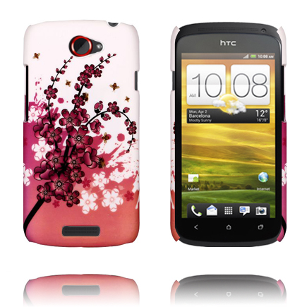 Valentine (Rosa Blommande Gren) HTC One S Skal