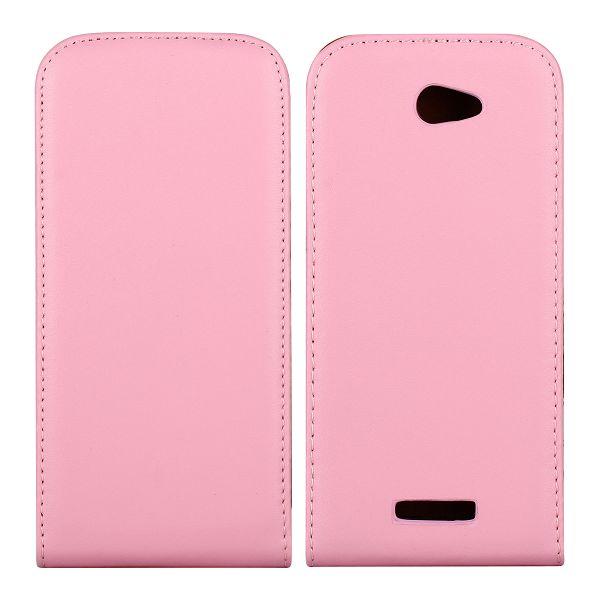 HTC One S Genuint Läderfodral (Ljusrosa)