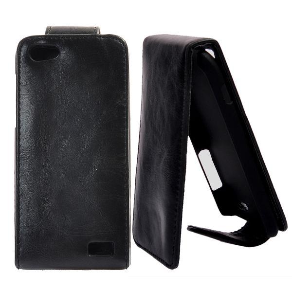 Klassisk HTC One V Läderfodral (Svart)
