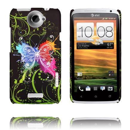 Valentine (Centrerad Regnbågsfjäril) HTC One X Skal