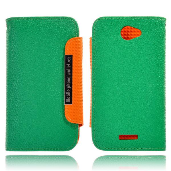 Amecs HTC One X Läderfodral med Kreditkortsficka (Grön)