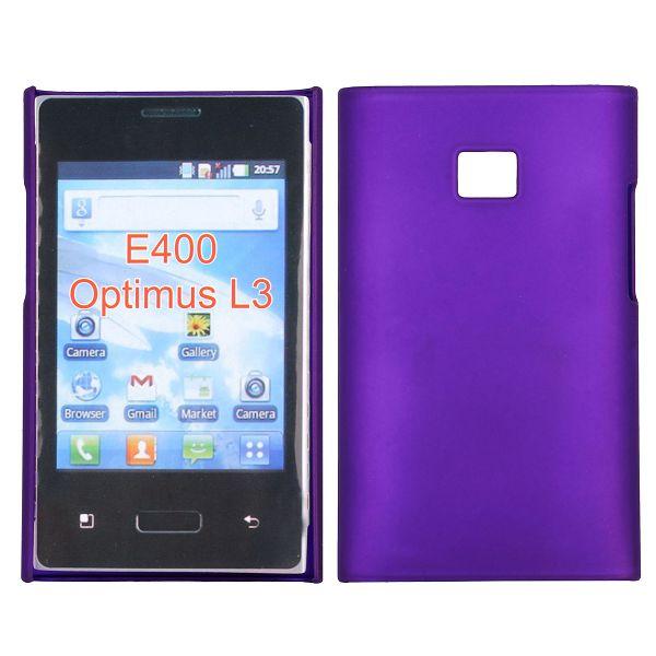 Hårdskal (Lila) LG Optimus L3 E400 Skal