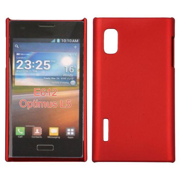 Hårdskal (Röd) LG Optimus L5 E610 Skal