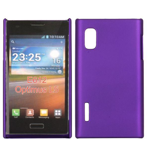 Hårdskal (Lila) LG Optimus L5 E610 Skal