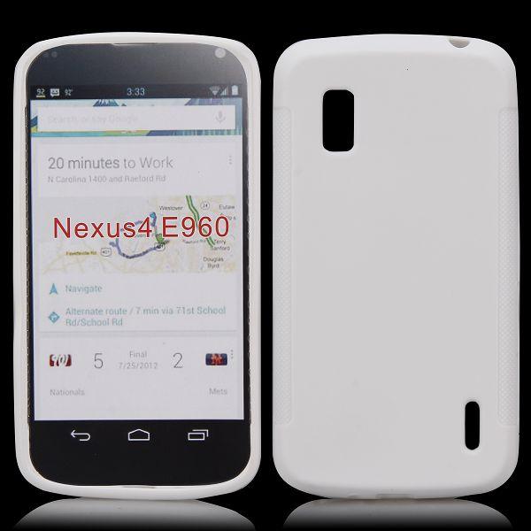 Mjukskal (Vit) Google Nexus 4 Skal