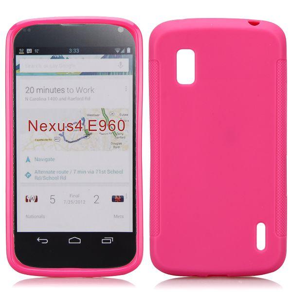 Mjukskal (Het Rosa) Google Nexus 4 Skal