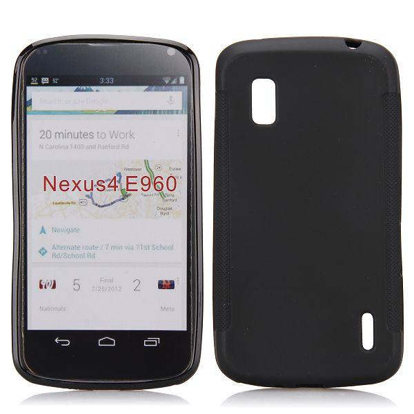 Mjukskal (Svart) Google Nexus 4 Skal