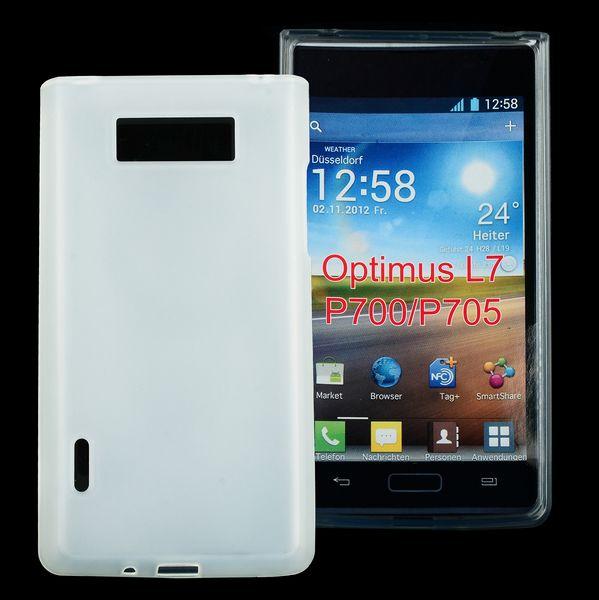 Mjukt & Frostat (Vitt) LG Optimus L7 Silikonskal